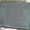 Close up of the plaque on the boulder