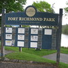 Fort Richmond Park is the waterfront of Richmond, ME. It is located on River St, opposite Main St. From a dock just north of here one can take a quick ferry-ride to explore Swan Island.