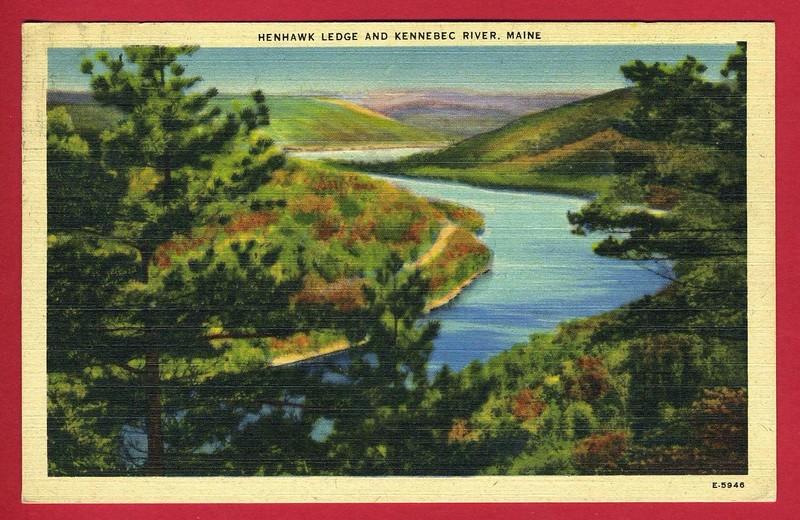 Antique postcard (1946).