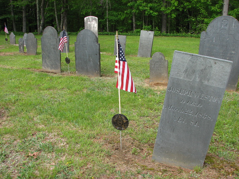 Joseph senior's gravestone is on the left in the middle-distance. Joseph Junior's is in the foreground.