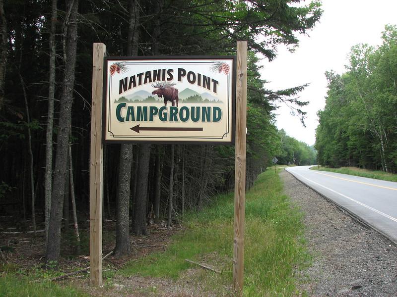 Entrance sign along Rt 27
