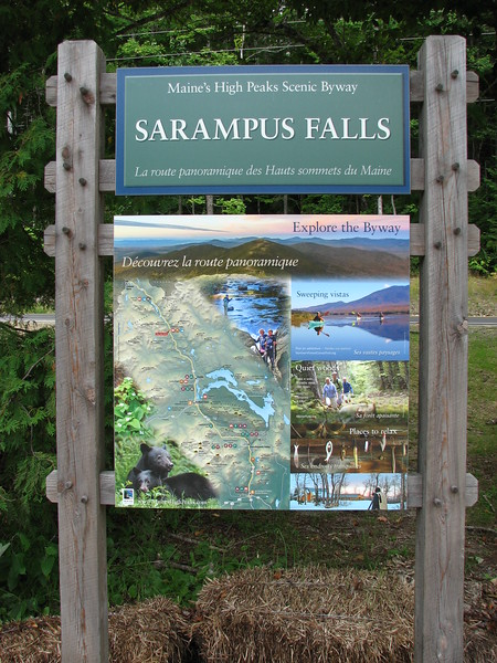 Sign at the picnic area