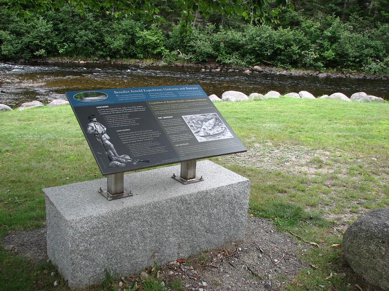 Interpretive panel at the picnic area
