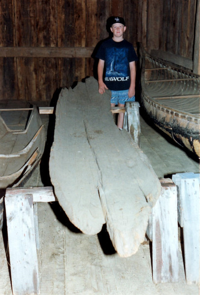 Batteaux and canoes in their collection in 1995