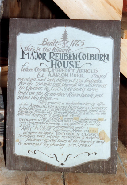 Sign in the barn in 1995