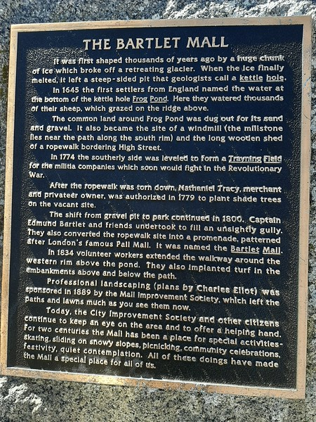 Plaque on the boulder, near the courthouse