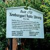 Previous sign out front, before the enlargement of the library