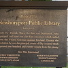 Sign in front of the Tracy Mansion portion of the library. Note the names of Benedict Arnold and Aaron Burr.