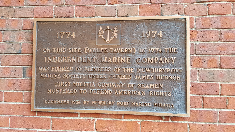 Bronze plaque on the wall facing Threadneedle Alley, just off State Street