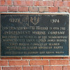 An older photo of the plaque