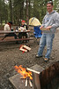 This is Scott and Krissy's first trip to Alaska. Its an overcast day in Denali as we light our first campfire.