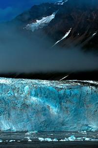 The beautiful, stunning, thunderous 300 feet tall terminus of Childs Glacier.