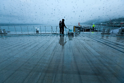 Imminent departure on a nasty morning in Whittier AK. The Alaska Ferry will have me in Cordova in about 3 hours.