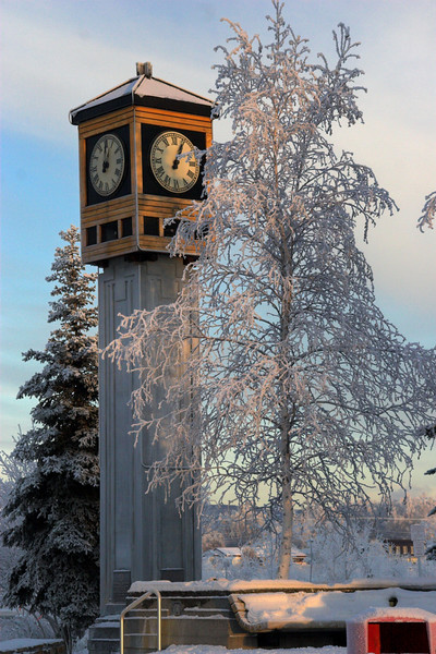 Its not Christmas, its just minus 18 degrees. January in Fairbanks, Alaska.