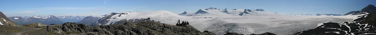 Harding Ice Field panorama