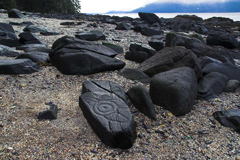 Petroglyphs are easy to find once you see the first one. Wrangell Alaska.