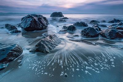 Mystic Beach, Sooke, Sunset.