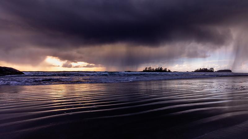 Tofino Hail Storm