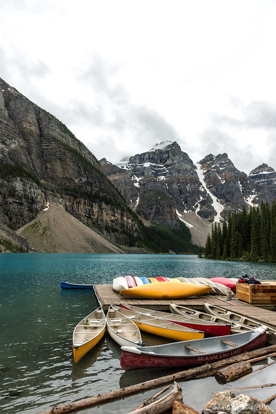 Canoes at Lake Morraine