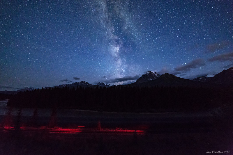 Milky Way Over Morant's Curve: Train Leaving