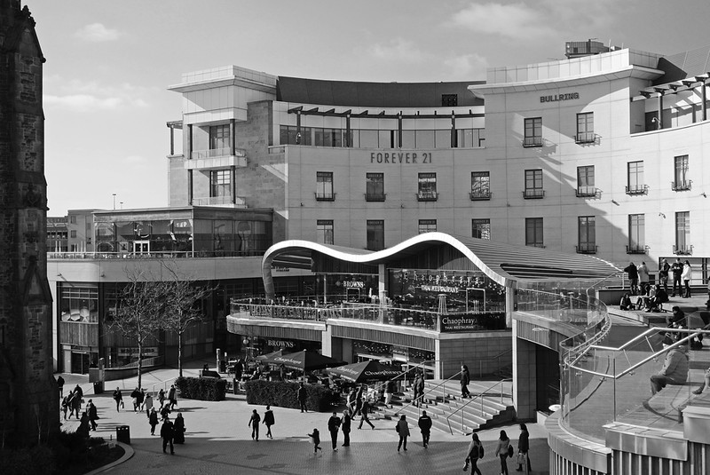 The Bullring in B&W