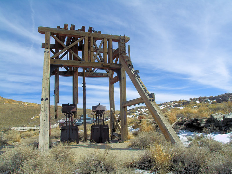 Head frame from the Red Cloud Mine.