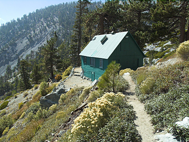 San Antonio Ski Hut from the loo trail<br /> October 10, 2006