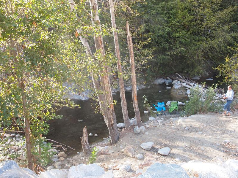 San Antonio Creek immediately above Shinn Road bridge.<br /> October 14, 2011