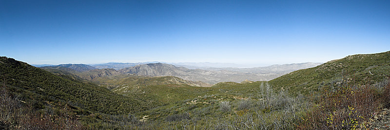 """The Skyline from From North of Kwaaymii Point: Mount Palomar is on the far left. Mount San Jacinto is in the left center. Granite Mountain is in the middle distance. The Santa Rosa Mountains are on the distant horizon on the right center. Whale Peak forms the skyline on the right.   October 28, 2006  <a href=""""http://www.dbdimages.com/photos/107120921_Z7Bz5-O.jpg""""TARGET=""""blank"""">View large in another window.</a> Use your viewer's zoom function if necessary and be sure to use the sliders."""