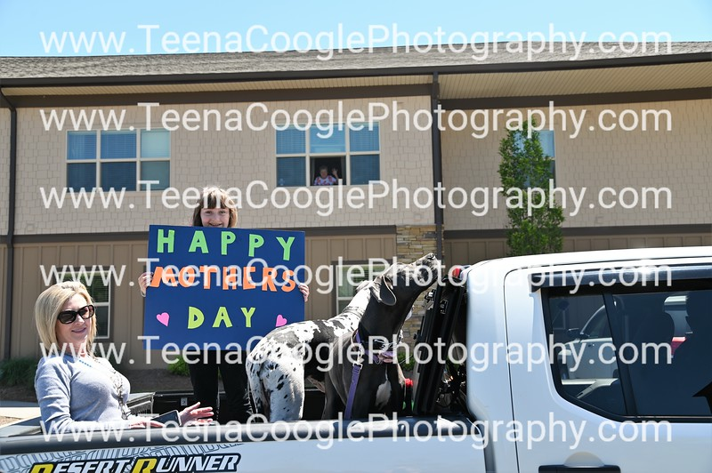 Amanda and Jared Wyatt daughter Blakley  Grand Mother is in window Brenda Wyatt dogs Lola and Gracie