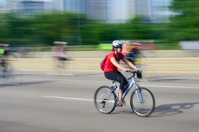 The Cyclist in Red