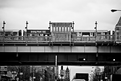 Chicago's Elevated Stop at Irving Park Road