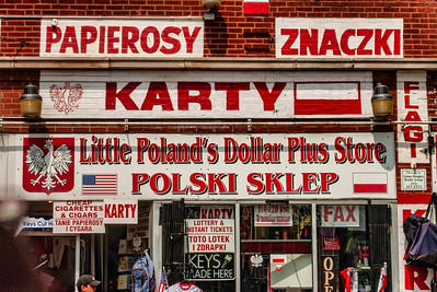 A store in  Chicago's old Polish Downtown, centered on Polonia Triangle at the intersection of Division, Ashland and Milwaukee Avenues.