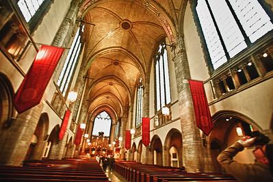 Inside the Rockefeller Chapel, University of Chicago