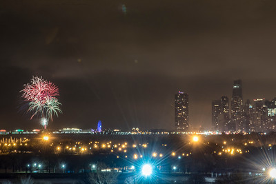 New Year's Fireworks - Chicago