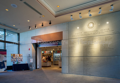 Carter Presidential Center Interior Museum Entrance.