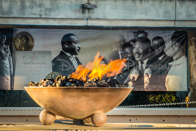 The eternal flame at MLK National Historic Site.
