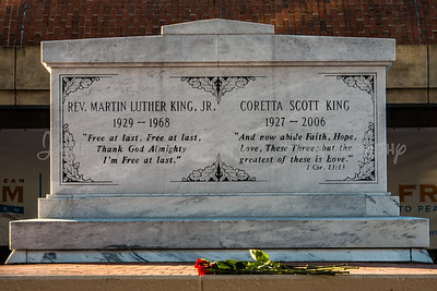 Reverend Martlin Luther King, Jr. and his wife Corretta Scott King crypt at the Martin Luther King National Historic Site.