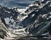 Receding Glacier and Moraine, Italian Alps