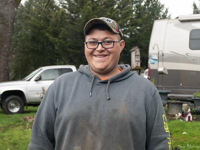 Ryan, Ralph's helper, also pretty good on that big backhoe