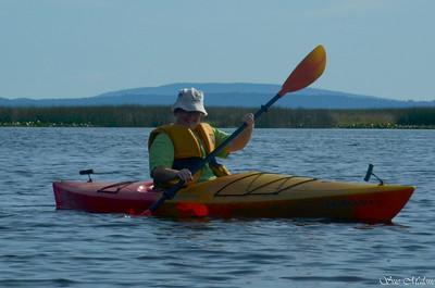 Axel loves the kayak