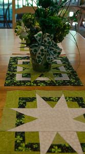 "St Paddy's quilt blocks ""box of stars"" pattern"