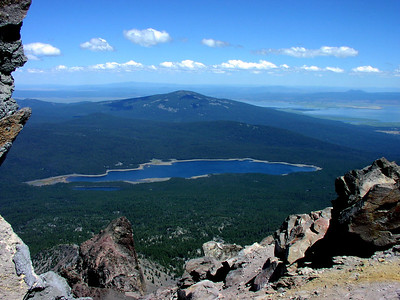 from the top of Mt McLoughlin