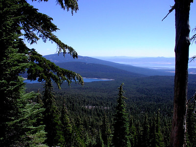 view east from the Mt McLoughlin trail