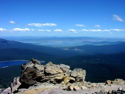 east toward Klamath Lake from Mt McLoughlin