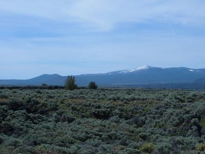 Glass Mountain still has snow