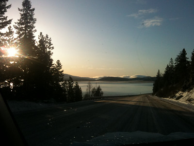 Sunrise over Klamath Lake on my morning commute