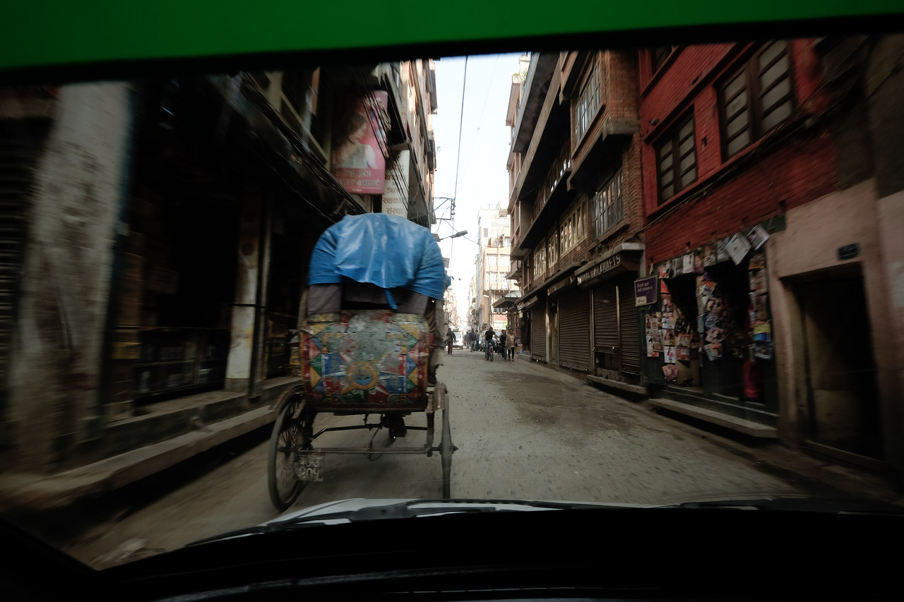 Chasing the rickshaw