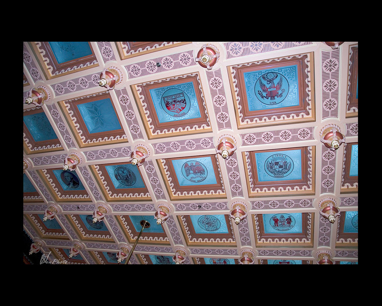 """""""Replicas now feature the coats of arms of all 50 states, as well as Victorian designs and Michigan themes.""""<br /> <br /> (Taken, from""""Your State Capitol"""", booklet.)"""