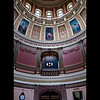 "If you look close, you can see ""The eight allegorical muses"" in the rotunda.<br /> <br /> ""Painted on canvas and glued directly to the inner dome, they are 'muses' - guides and sources of inspiration - drawn from Greek and Roman mythology.""<br /> <br /> (Taken, from""Your State Capitol"", booklet.)<br /> <br /> They are: Art, Agriculture, Law, Science, Justice, Industry, Commerce & Education<br /> <br /> The artists name was Tommaso Juglaris, who painted them in 1886, while painting and teaching in Boston."